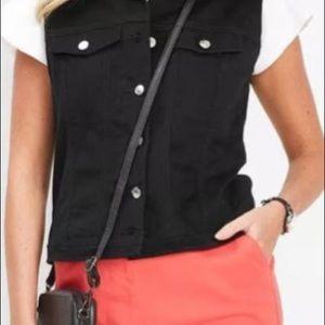 Vest (2 for $15) black, denim look